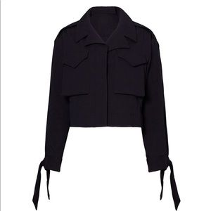Milly cropped military jacket